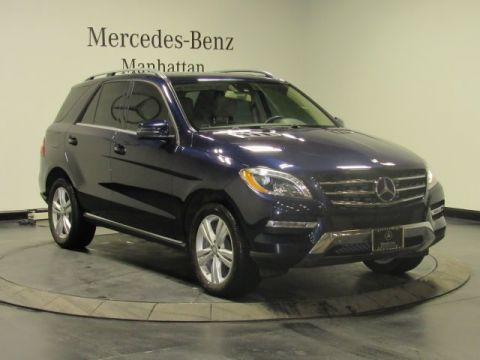 Certified pre owned 2014 mercedes benz m class ml 350 suv for Pre owned mercedes benz ny